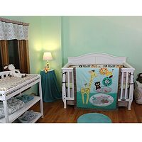 Lolli Living Zig Zag Zoo 4-pc. Crib Bedding Set