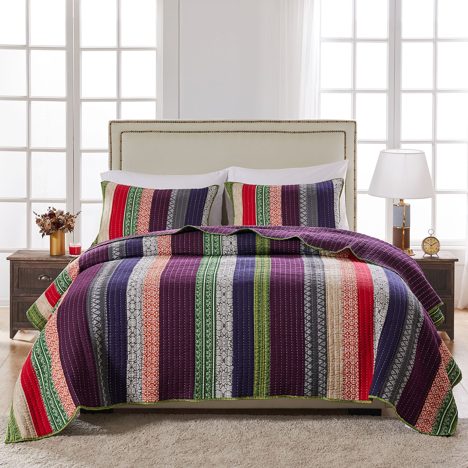greenland home fashions marley quilt set - Greenland Home Fashions
