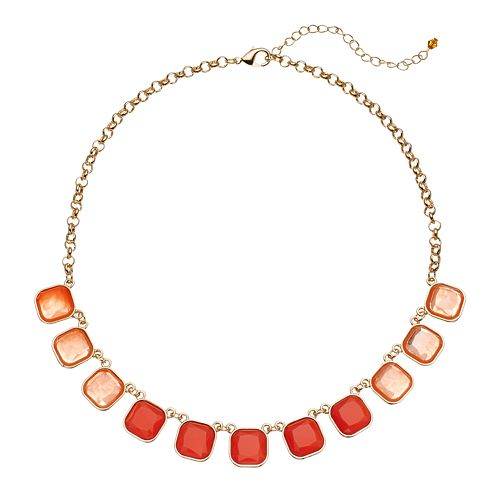 Ombre Square Necklace