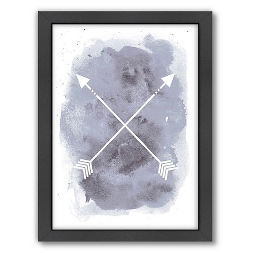 Americanflat Watercolor Arrow Framed Wall Art
