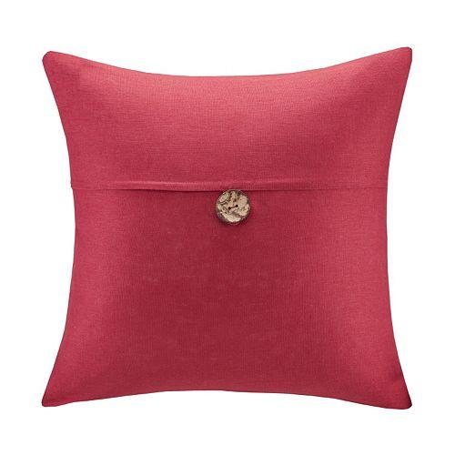 Madison Park One-Button Linen Throw Pillow