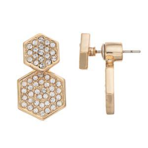 COCO LANE Hexagon Front-Back Drop Earrings