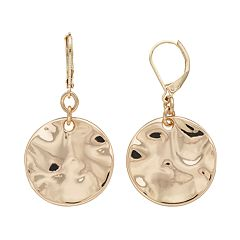 Dana Buchman Hammered Disc Drop Earrings