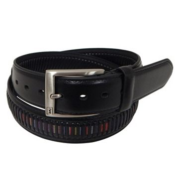 Men's PGA Tour Multi-Color Inset Leather Golf Belt