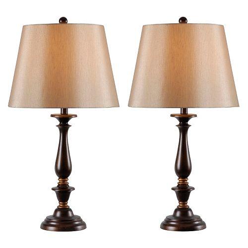 Kenroy Home 2-pc. Gavin Table Lamp Set