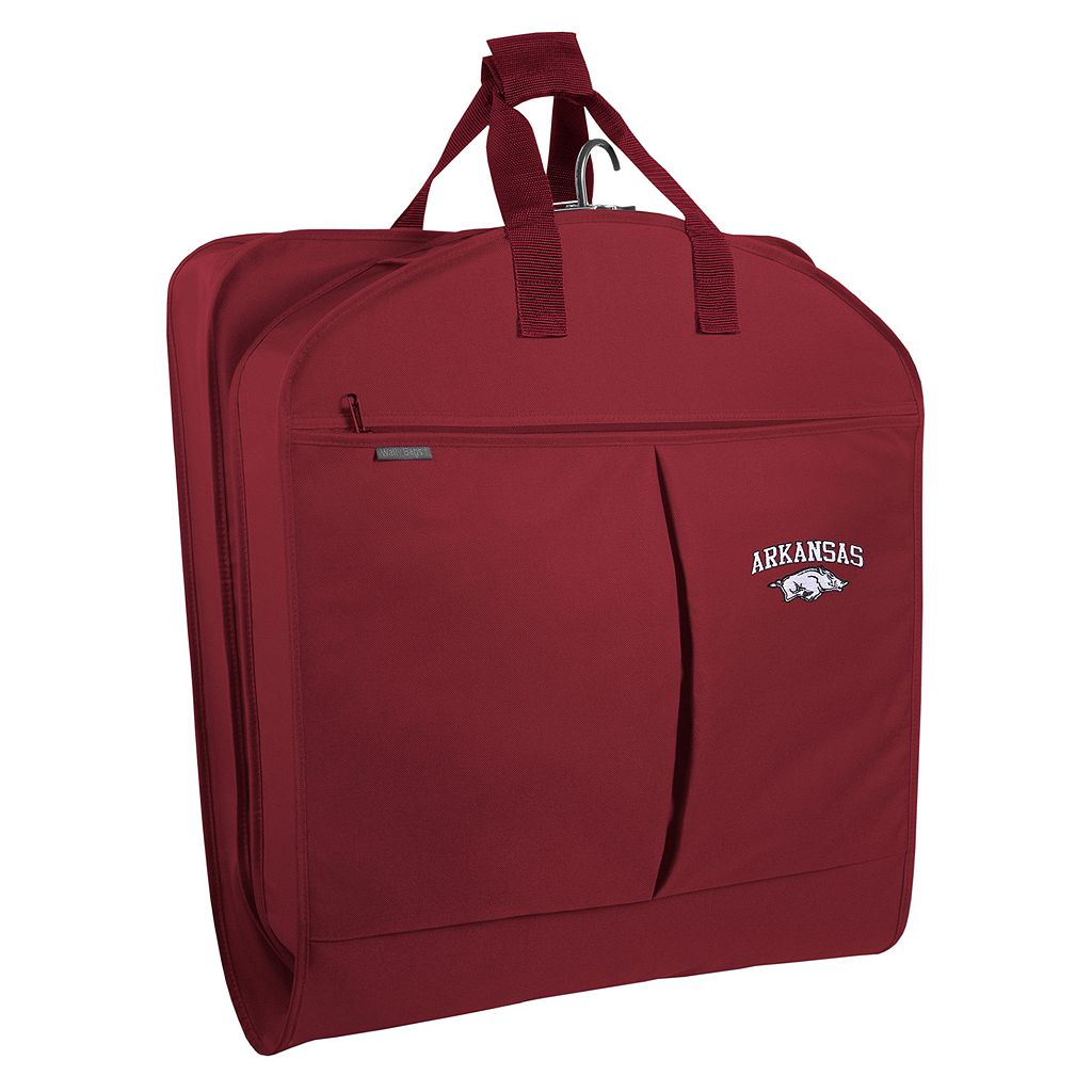 WallyBags Arkansas Razorbacks 40-Inch Pocketed Garment Bag