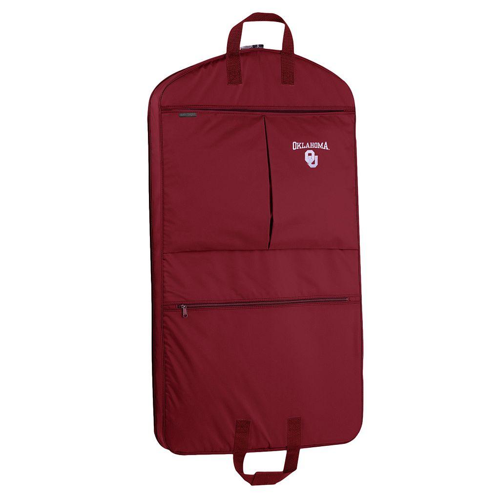 WallyBags Oklahoma Sooners 40-Inch Pocketed Garment Bag