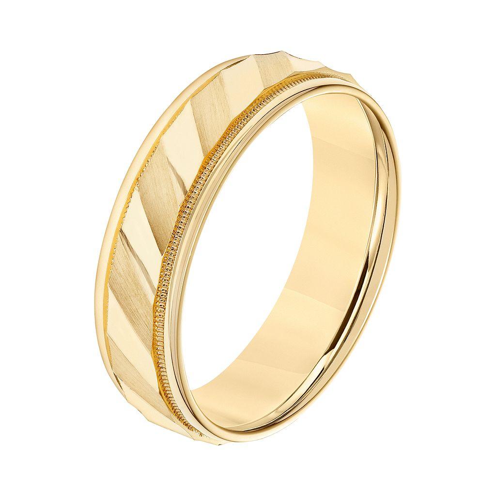 Simply Vera Vera Wang 14k Gold Men's Wedding Band