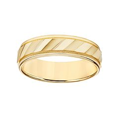 Simply Vera Vera Wang 14k Gold Men's Wedding Band