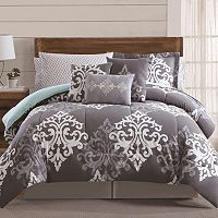 Textured Damask 12-piece Bed Set