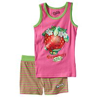 Girls 4-10 Shopkins Strawberry Kiss Pajama Set