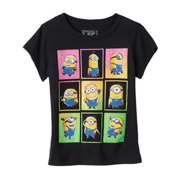 Girls 4-6x Despicable Me Minions Glitter Tee