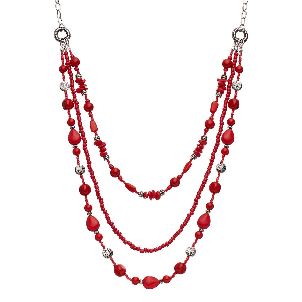 Beaded Swag Necklace