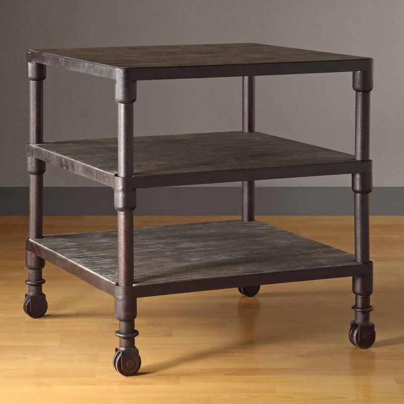 Madison Park Cirque 3-Tier End Table, Grey