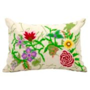 Mina Victory Lifestyles Flower Garden Throw Pillow