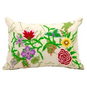 Mina Victory Lifestyles Flower Garden Throw Pillow