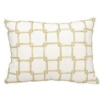 Mina Victory Luminescence Interlocking Squares Beaded Throw Pillow