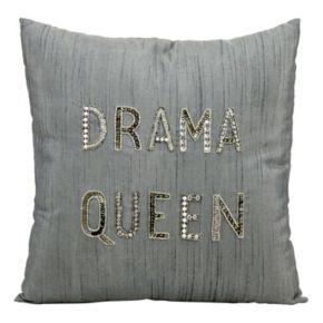 Mina Victory Luminescence ''Drama Queen'' Beaded Throw Pillow