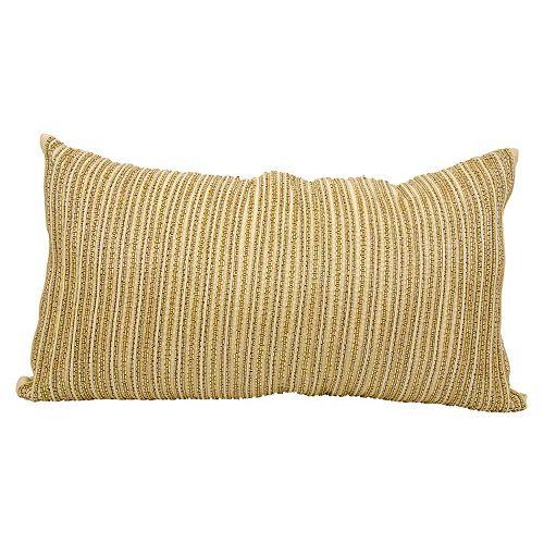 Mina Victory Luminescence Striped Beaded Throw Pillow
