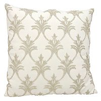 Mina Victory Luminescence Fleur-de-Lis Beaded Throw Pillow