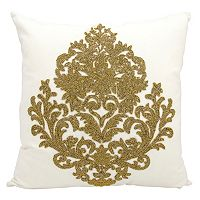 Mina Victory Luminescence Damask Beaded Throw Pillow