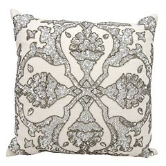 Mina Victory Luminescence Dawn Beaded Throw Pillow