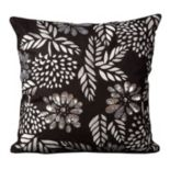 Mina Victory Luminescence Flowers Beaded Throw Pillow