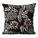 Mina Victory Luminescence Flowers Beaded Throw Pillow