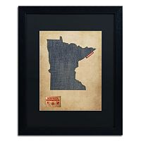Trademark Global Denim State Framed Canvas Wall Art