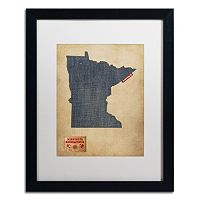 Trademark Global Denim State Classic Framed Canvas Wall Art