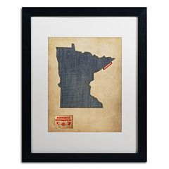Trademark Global Denim State Classic Framed Canvas Wall Art