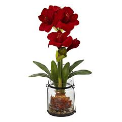 nearly natural Artificial Amaryllis Plant
