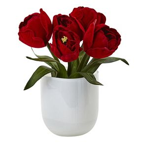 nearly natural Artificial Tulip Arrangement