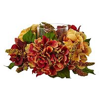 nearly natural Artificial Hydrangea & Berry Candle Holder