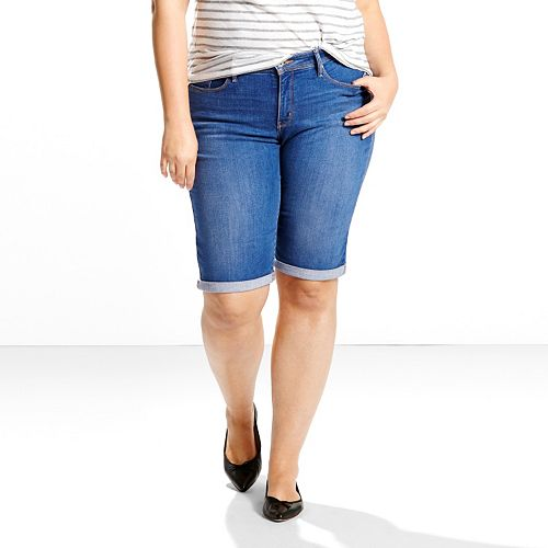 46503a91 Plus Size Levi's® 512™ Perfectly Shaping Bermuda Jean Shorts