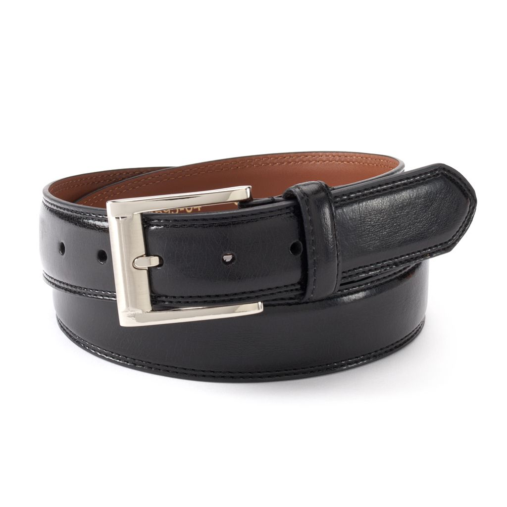 Big & Tall IZOD Double-Stitched Leather Belt