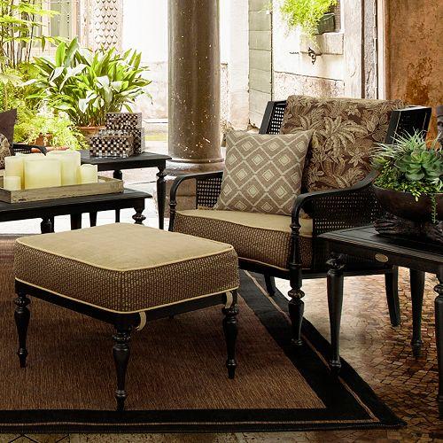 Ottomans Sherborne Ottoman Large: Bombay Outdoors Sherborne Palmetto Chair & Ottoman Set