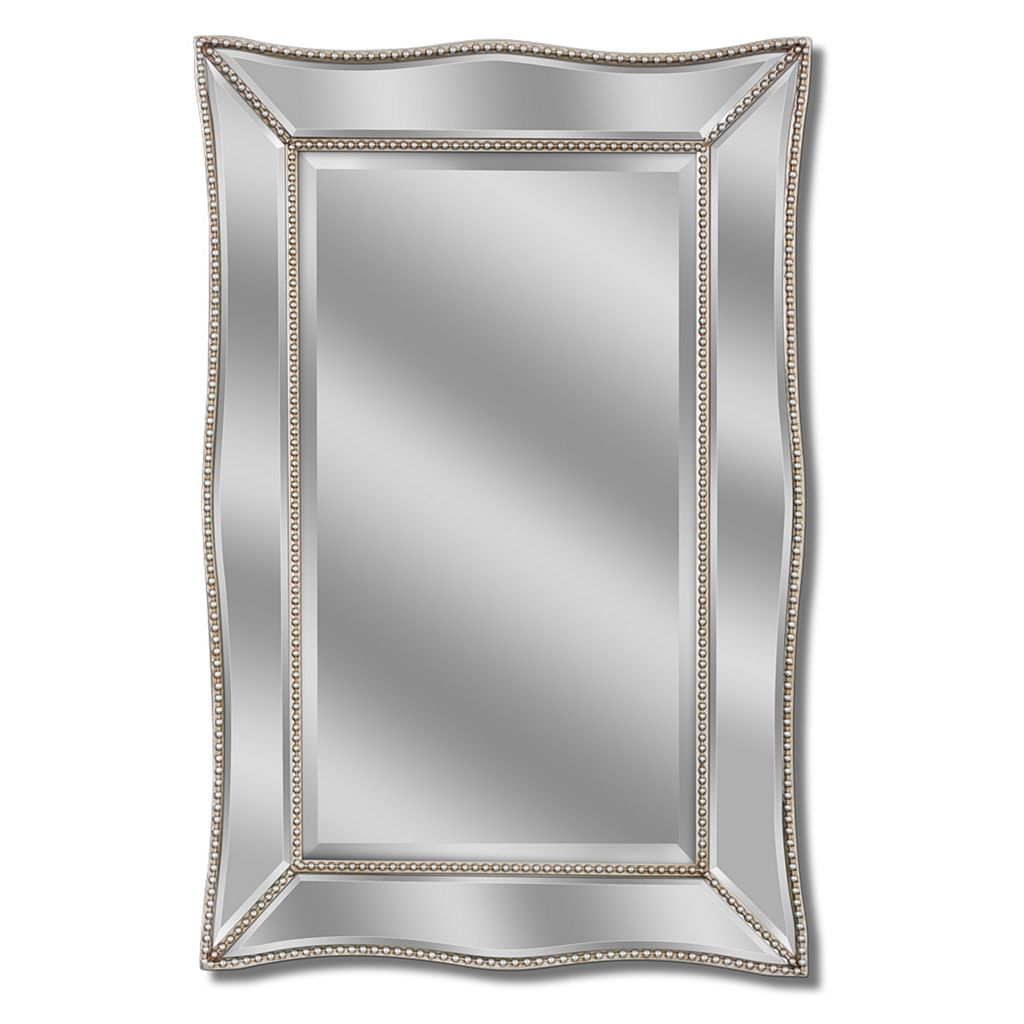 Head West Metro Beaded Scalloped Wall Mirror