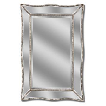 Head West Metro Beaded Scalloped Wall Mirror