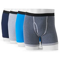Men's GOLDTOE 4-Pack AquaFX Boxer Briefs