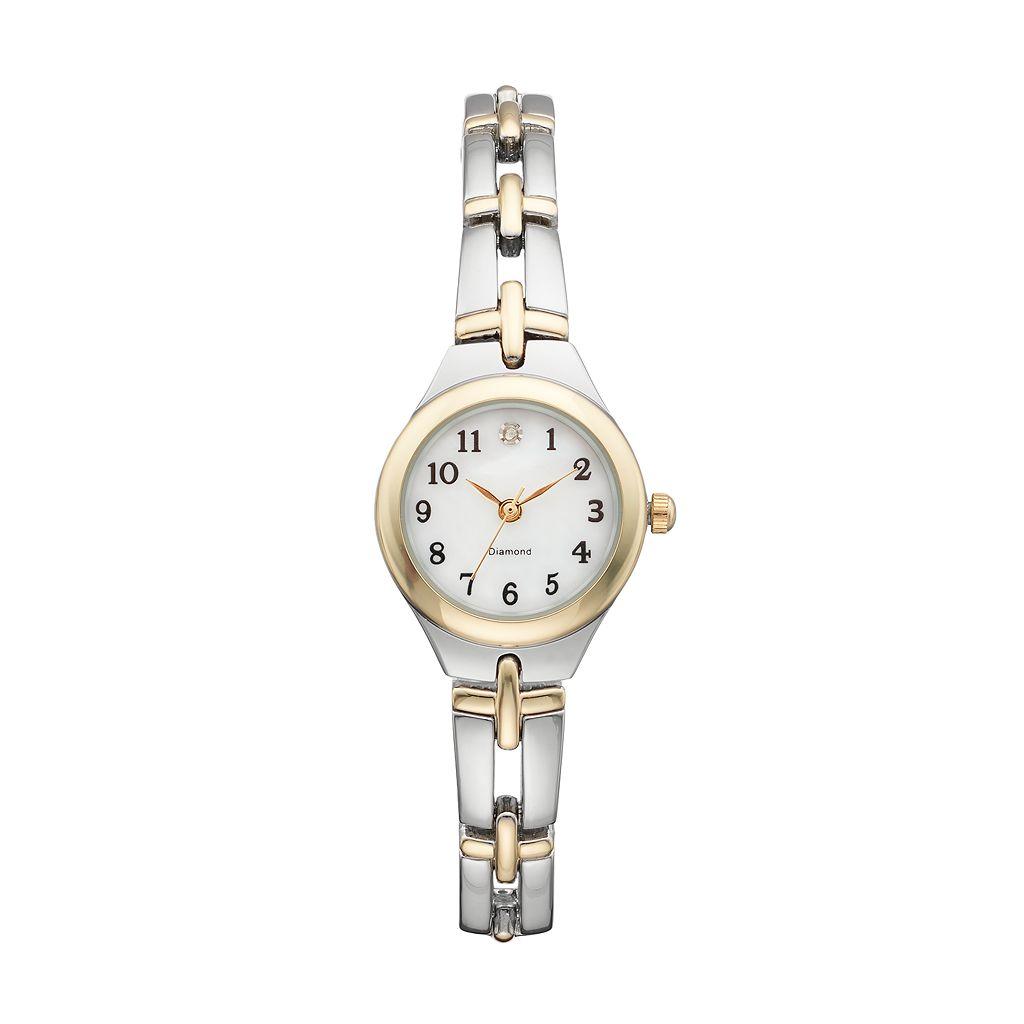 Women's Diamond Two Tone Watch