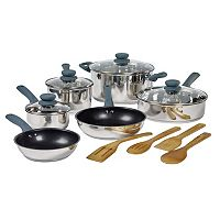 Basic Essentials 14-pc. Stainless Steel Cookware Set