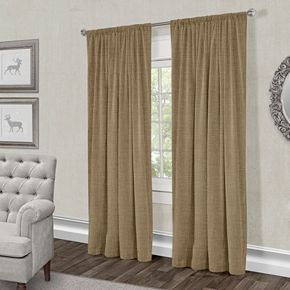 Exclusive Home 2-pack Burlap Jute Window Curtains