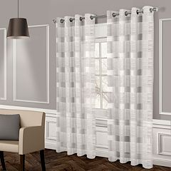 Exclusive Home 2-pack Michel Textured Sheer Window Curtains - 50'' x 96''