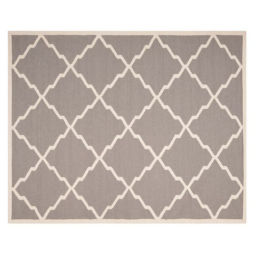 Safavieh Dhurries Jagged Diamond Handwoven Flatweave Wool Rug