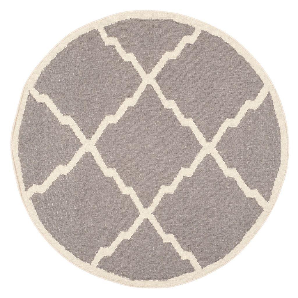 Safavieh Dhurries Jagged Diamond Handwoven Flatweave Wool Rug