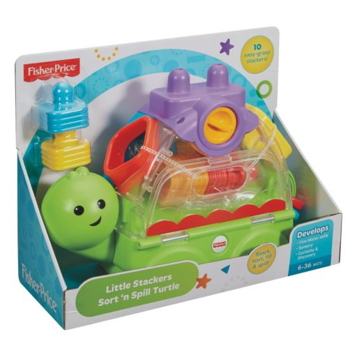 Fisher-Price Little Stackers Sort & Spill Turtle