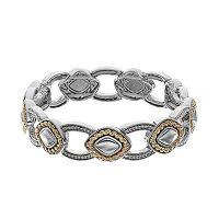 Napier Two Tone Diamond-Shaped Stretch Bracelet