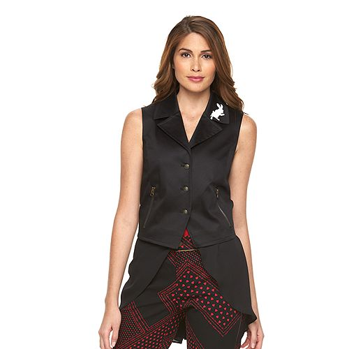 Disney's Alice Through the Looking Glass Designer Collection by Colleen Atwood Mock-Layer Vest - Women's