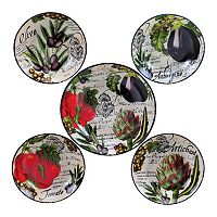 Certified International Botanical Vegetables 5 pc Pasta Serving Bowl Set